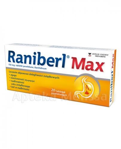 RANIBERL MAX 150 mg - 20 tabl. - Apteka internetowa Melissa