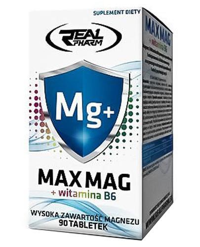 Real Pharm Max Mag + witamina B6 - 90 tabl. - cena, opinie, właściwości - Drogeria Melissa