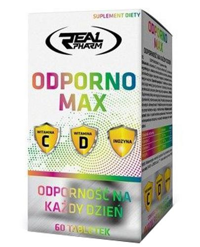 Real Pharm OdpornoMax - 60 tabl. - cena, opinie, wskazania - Drogeria Melissa