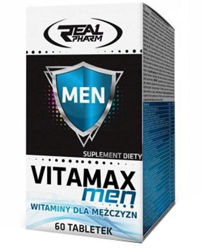 Real Pharm Vitamax Men witaminy dla mężczyzn - 60 tabl. - cena, opinie, wskazania - Apteka internetowa Melissa