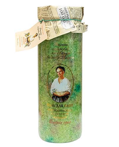 Receptury Babuszki Agafii Kojąca sól do kąpieli z żywicą sosnową - 800 g - cena, opinie, właściwości - Drogeria Melissa