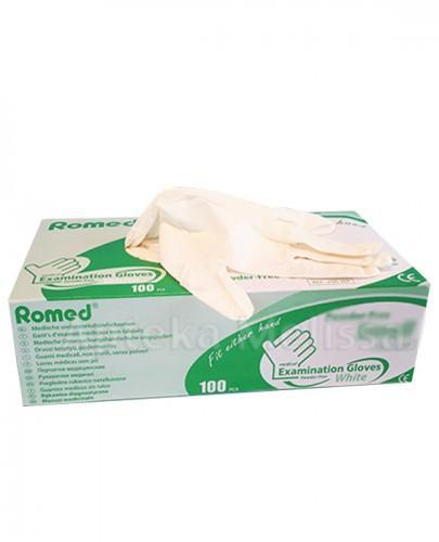 ROMED Rękawice diagnostyczne bezpudrowe, bezlateksowe, niejałowe białe L - 100 szt. - Apteka internetowa Melissa