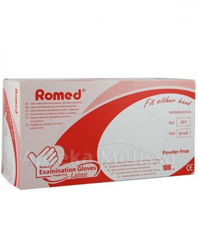 ROMED Rękawice lateksowe niejałowe, bezpudrowe rozmiar S - 100 szt. - Apteka internetowa Melissa