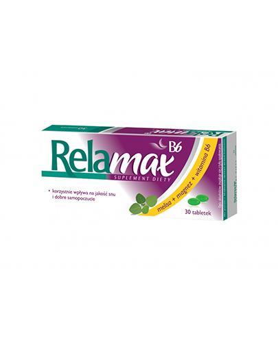 RELAMAX B6 - 30 tabl. - stres, niepokój - cena, opinie, wskazania - Apteka internetowa Melissa