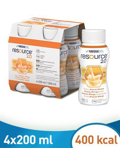 RESOURCE 2.0 Smak ananas-mango - 4 x 200 ml
