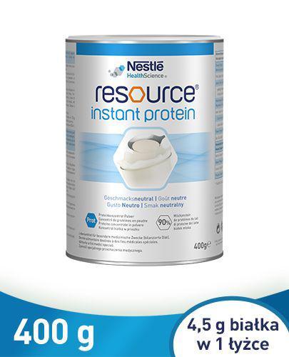 RESOURCE INSTANT PROTEIN – koncentrat białka w proszku, smak neutralny - 400 g - Apteka internetowa Melissa