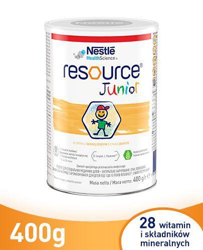 RESOURCE Junior - 400 g Preparat odżywczy po 1. roku życia, o smaku waniliowym - cena, opinie, wskazania - Apteka internetowa Melissa