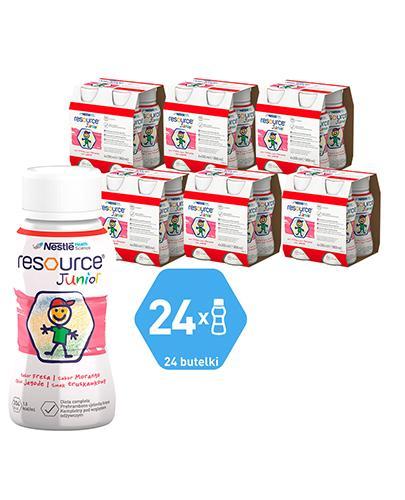 RESOURCE JUNIOR Smak truskawkowy - 24x200 ml Preparat odżywczy - cena, opinie, stosowanie  - Apteka internetowa Melissa