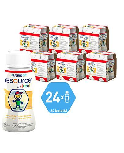 RESOURCE JUNIOR Smak waniliowy - 24x200 ml Preparat odżywczy - cena, opinie, stosowanie
