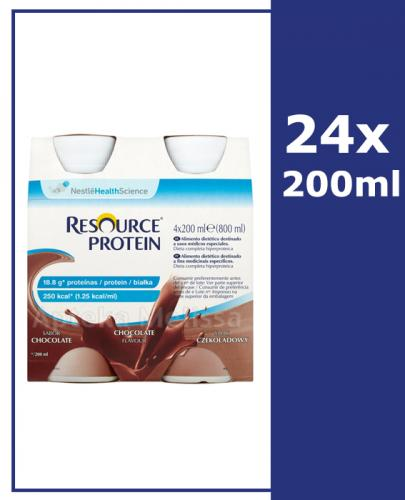 RESOURCE PROTEIN Smak czekoladowy - 24 x 200 ml - Apteka internetowa Melissa