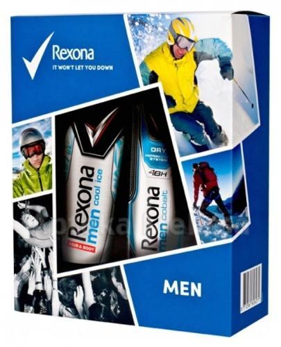 REXONA MEN Cobalt antyperspirant w aerozolu - 150 ml + Cool Ice żel pod prysznic - 250 ml  - Apteka internetowa Melissa