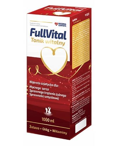 Rodzina Zdrowia FullVital Tonik witalny - 1000 ml - cena, opinie, dawkowanie - Drogeria Melissa