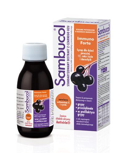 SAMBUCOL IMMUNO FORTE - 120 ml Na odporność - cana, opinie, dawkowanie - Drogeria Melissa