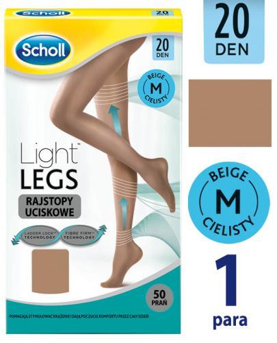 85baf9aabee9bb SCHOLL LIGHT LEGS Rajstopy uciskowe/kompresyjne cieliste 20 DEN rozmiar S/M  - 1 szt.