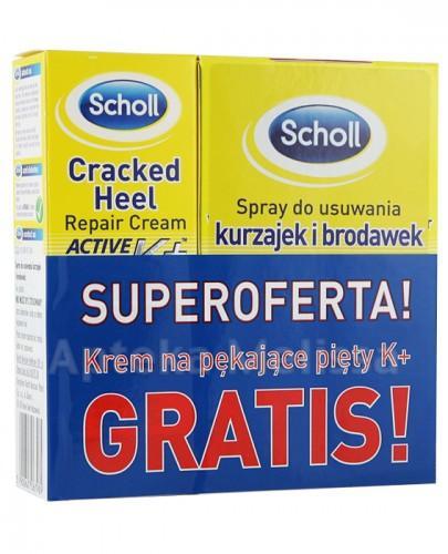 SCHOLL Spray do usuwania kurzajek i brodawek -  80 ml + ACTIVE REPAIR K+ Krem na pękające pięty - 60 ml GRATIS! - Apteka internetowa Melissa