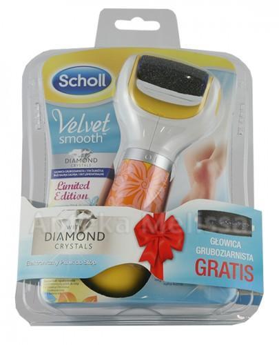 SCHOLL VELVET SMOOTH Elektroniczny pilnik do stóp z kryształkami diamentu - 1 szt. Edycja limitowana