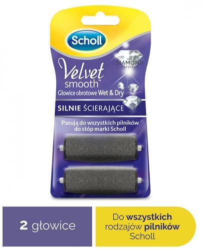 SCHOLL VELVET SMOOTH WET&DRY Drobnoziarniste głowice obrotowe - 2 szt.