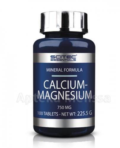 SCITEC CALCIUM-MAGNESIUM Wapń i magnez 2:1 750 mg - 100 tabl. - Apteka internetowa Melissa