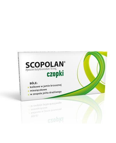 SCOPOLAN -  czopki doodbytnicze 10 mg - 6 szt. W stanach skurczowych układu pokarmowego, dróg żółciowych i układu moczowo – płciowego.