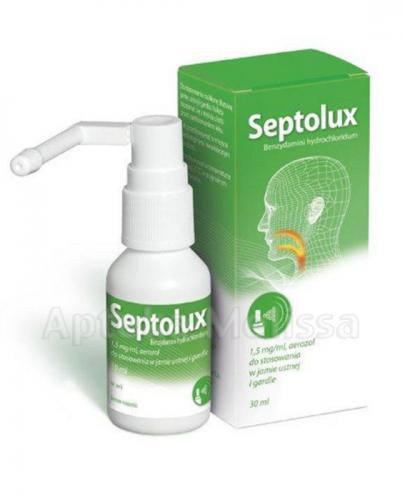 SEPTOLUX Aerozol do jamy ustnej i gardła - 30 ml - Apteka internetowa Melissa