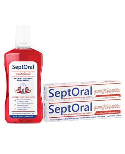 SeptOral Profilactic Specjalistyczna pasta do zębów - 2 x 100 ml + SeptOral profilactic Płyn do płukania jamy ustnej - 500 ml Bez alkoholu - Apteka internetowa Melissa