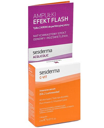 SESDERMA C-VIT Serum - 2 ml + ACGLICOLIC FLASH - 2 ml  - Apteka internetowa Melissa