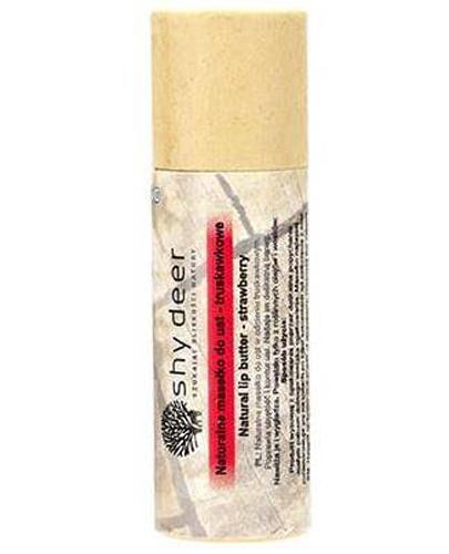 Shy Deer Naturalne masełko do ust - truskawkowe - 12 ml - cena, opinie, skład - Drogeria Melissa