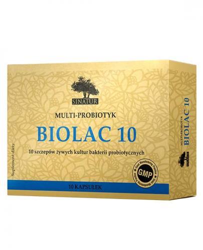 SINATUR Biolac 10 - 10 kaps.(PROBIOTYK 10 szczepów) - Apteka internetowa Melissa