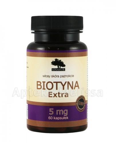 SINATUR BIOTYNA EXTRA 5 mg z bambusem i skrzypem -  60 kaps.