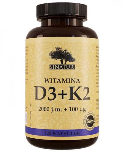 SINATUR WITAMINA D3 + K2  - 120 kaps. - Drogeria Melissa