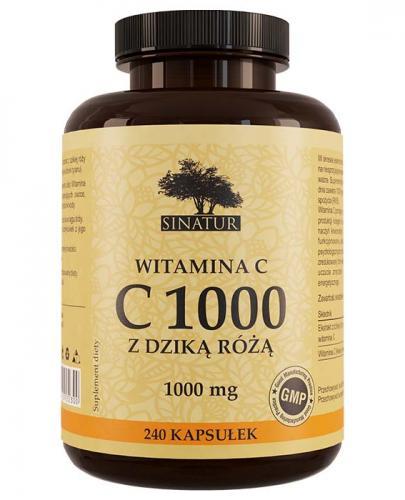 SINATUR WITAMINA C 1000 mg - 240 kaps. - Apteka internetowa Melissa