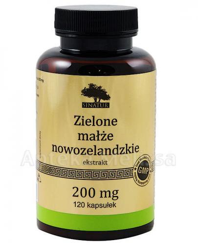 SINATUR ZIELONE MAŁŻE NOWOZELANDZKIE 200 mg - 120 kaps. - Apteka internetowa Melissa