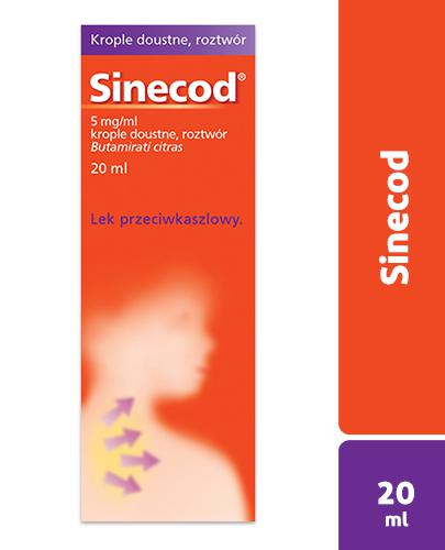 SINECOD Krople doustne na kaszel - 20 ml - Apteka internetowa Melissa