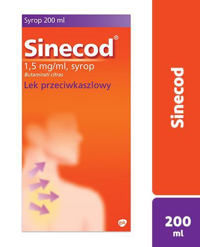 Sinecod 1,5ml/ml - 200 ml - syrop na kaszel - cena, opinie, dawkowanie - Apteka internetowa Melissa