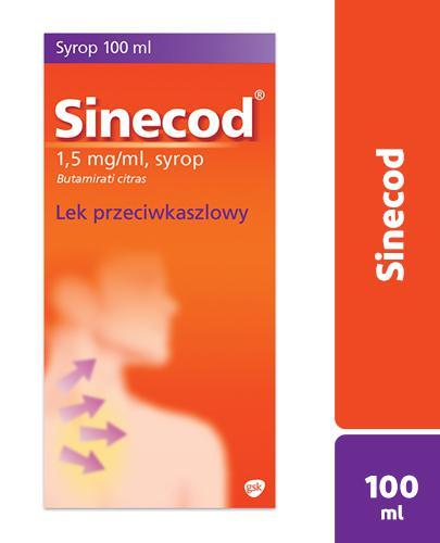 SINECOD - syrop przeciwkaszlowy 100 ml  - Apteka internetowa Melissa