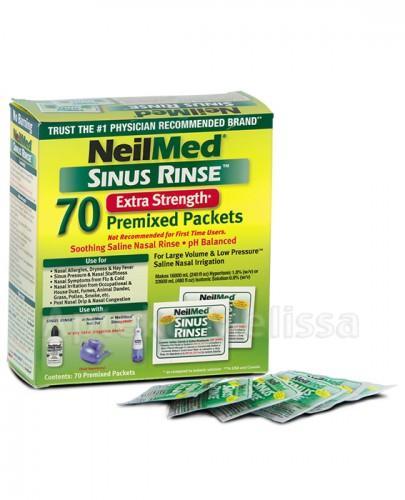 SINUS RINSE HYPERTONIC Zestaw uzupełniający dla dorosłych - 70 sasz. - Apteka internetowa Melissa