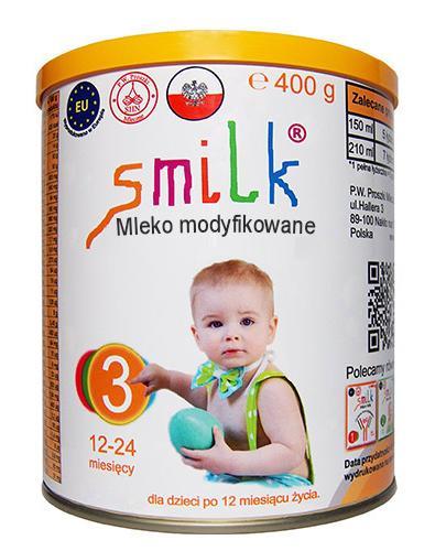Smilk 3 Mleko następne - 400 g Mleko w proszku dla dzieci powyżej 1. roku życia - cena, opinie, stosowanie  - Drogeria Melissa