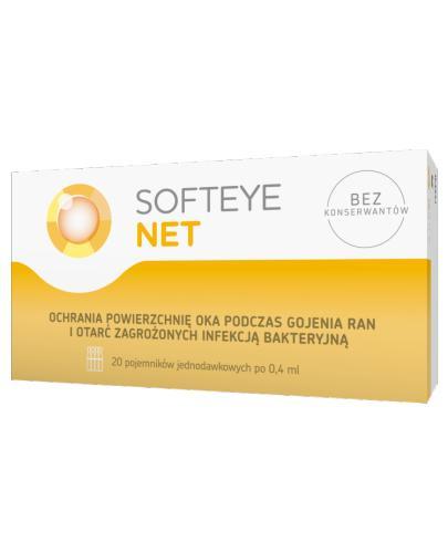SOFTEYE NET - 20 x 0,4 ml - leczenie ran i otarć - cena, opinie, stosowanie - Drogeria Melissa