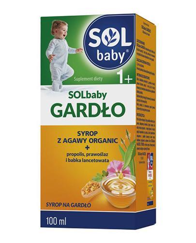 SOLBABY GARDŁO 1+ Syrop z agawy organic - 100 ml - cena, wskazania, właściwości - Drogeria Melissa