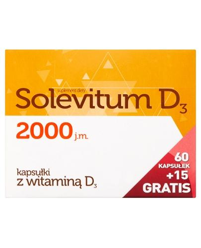 SOLEVITUM D3 2000 j.m - 60 kaps.+ 15 kaps.GRATIS - Apteka internetowa Melissa
