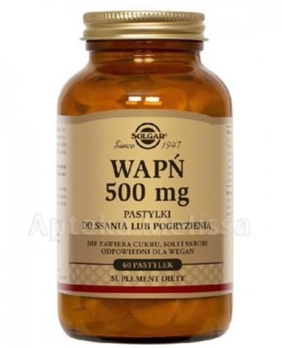 SOLGAR WAPŃ 500 mg - 60 past. do ssania  - Apteka internetowa Melissa