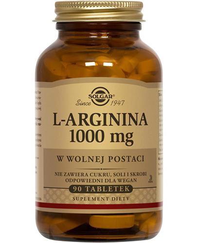 SOLGAR L-ARGININA 1000 mg - 90 tabl. - Apteka internetowa Melissa