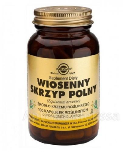 SOLGAR SKRZYP POLNY WIOSENNY - 100 kaps. - Apteka internetowa Melissa