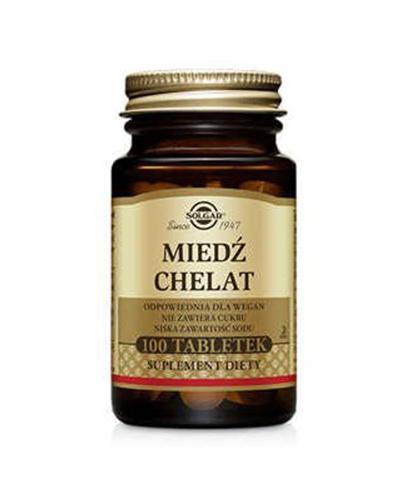 SOLGAR MIEDŹ CHELAT 2,5 mg - 100 tabl. - Apteka internetowa Melissa