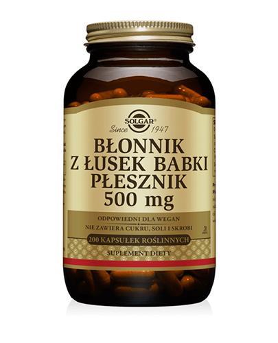 SOLGAR BŁONNIK Z ŁUSEK BABKI PŁESZNIK 500 mg - 200 kaps.