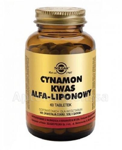 SOLGAR CYNAMON KWAS ALFA-LIPONOWY - 60 tabl. - Apteka internetowa Melissa