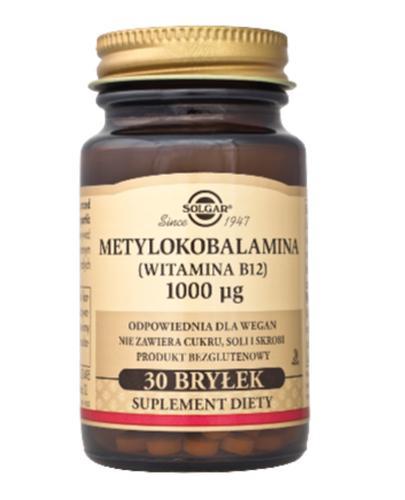 SOLGAR METYLOKOBALAMINA (WITAMINA B12) 1000µg  - 30 bryłek - Apteka internetowa Melissa