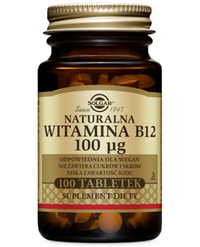 SOLGAR WITAMINA B12 NATURALNA - 100 tabl.