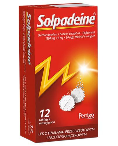 SOLPADEINE - 12 tabl. mus. Lek przeciwbólowy - cena, opinie, wskazania - Apteka internetowa Melissa