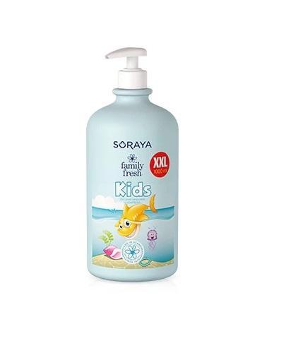 SORAYA FAMILY FRESH KIDS Żel pod prysznic i szampon 2w1 dla dzieci z wyciągiem z owsa - 1000 ml - cena, właściwości, opinie